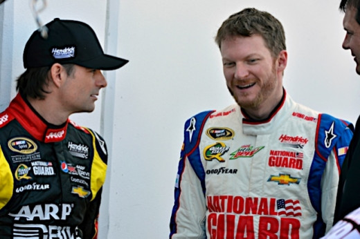 Earnhardt Jr. made the Chase while teammate Gordon just missed out