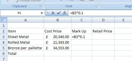 This is how you create a basic formula in Microsoft Excel