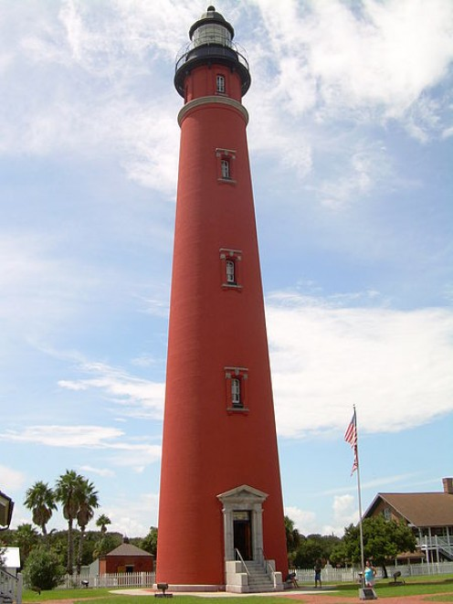 Ponce de Leon Inlet Light (Mosquito Inlet), or Ponce Inlet lighthouse,Located on South Peninsula Drive in the town of Ponce Inlet, south of Daytona Beach in Florida