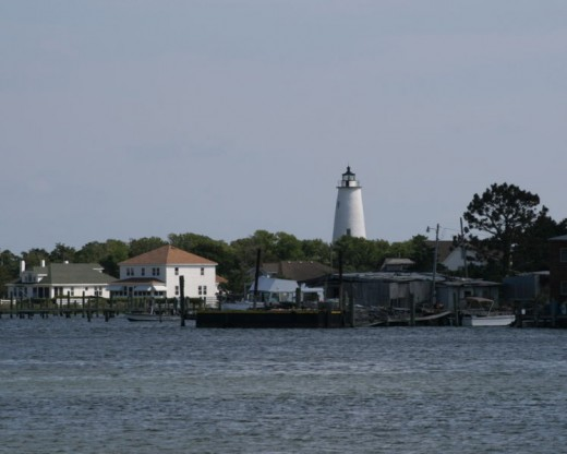 Ocracoke Lighthouse is the oldest of the North Carolina lighthouses built in 1823