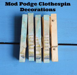 Decoupage/Mod Podge Clothespin/Clothes Pin Decorating Ideas