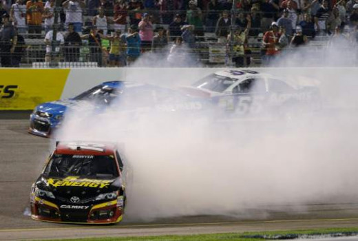 Bowyer's spin brought out a caution that re-shuffled the Chase field
