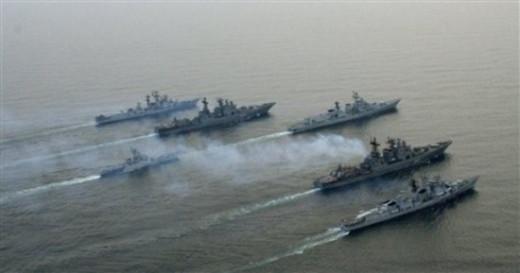 Russian war ships heading for the Mediterranean