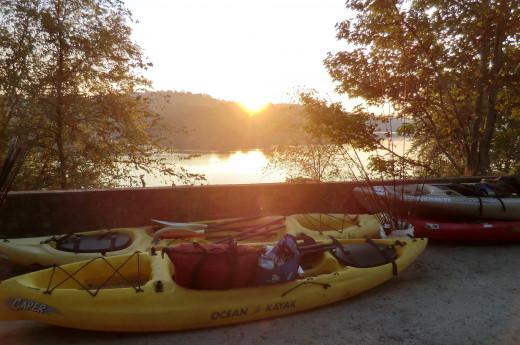 early morning kayak on the Savannah river