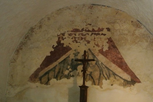 Fresco in an antechamber at Mission Concepcion