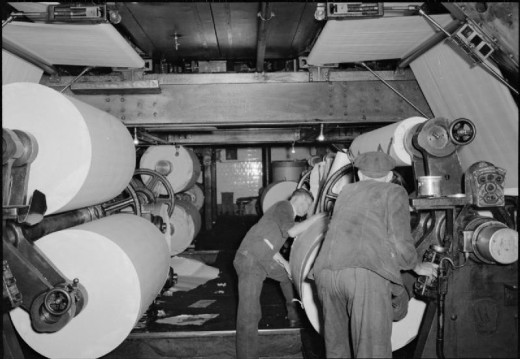 The Makings of a Modern Newspaper- the Production of 'the Daily Mail' in Wartime, London, UK, 1944