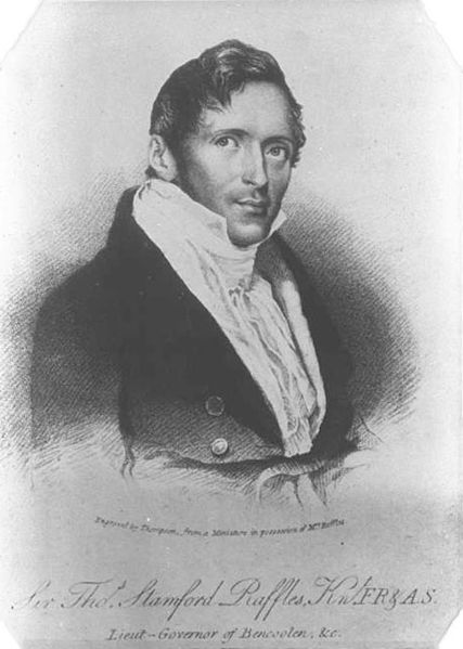 Sir Stamford Raffles, founder of modern Singapore