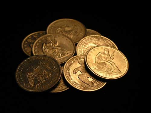 Gold coins found in Blue Baron shipwreck