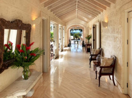 Marble floors adorn most seaside hotel rooms and lobbies.