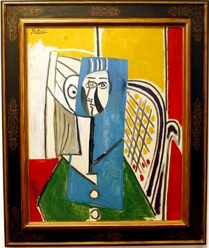 The oil on canvas, named Sylvette, depicts a 19-year-old woman in bright colours and semi-abstract, geometric forms.    Sylvette was painted by Picasso when he was in his 80s and living on the Cote d'Azur in south-eastern France.