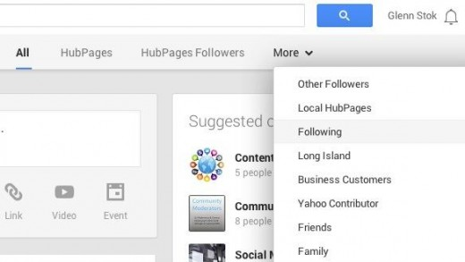 Selecting the Google+ Stream to Follow