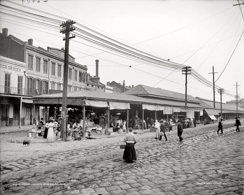 The older French Market back in 1910.