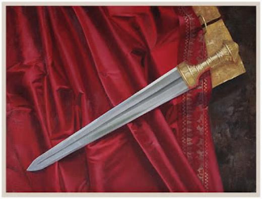 Depiction of Sword of Laban