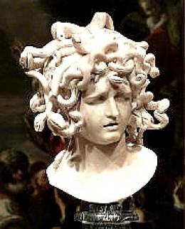 Medusa, a gorgon  Sculpture: Gian Lorenzo Bernini
