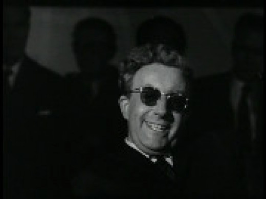 Actor Peter Sellers as Dr. Strangelove