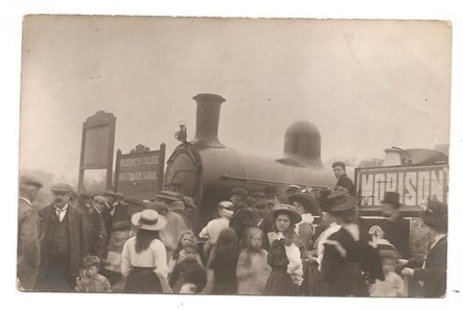 Steam Engine Accident, Withernsea Railway Station, England, sold for $61.29