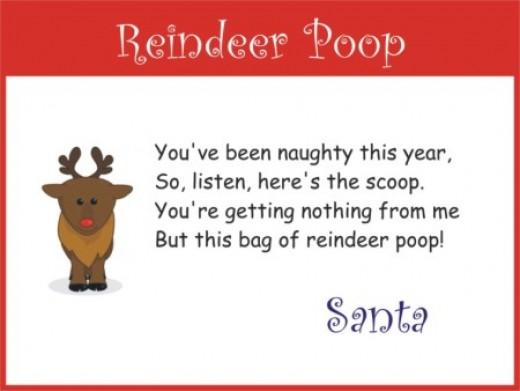 Christmas Poop Poems for Kids