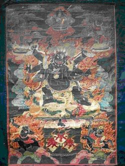 All the Thangkas pictured are private collections