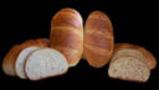Loaves that are formed using sections of dough.