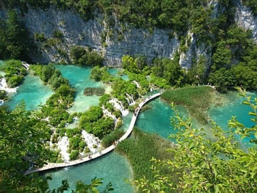 Overview of the Plitvice Lakes National Park