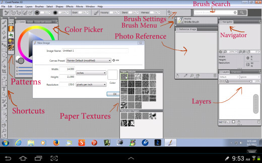 Corel Painter 13 Interface