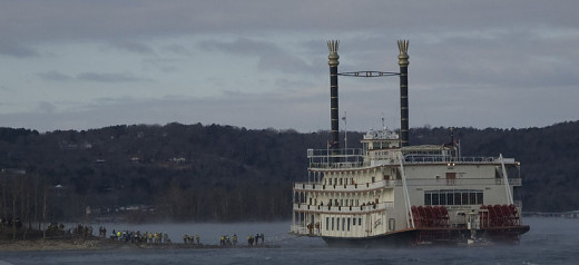Branson Belle. A modern showboat that seat 700 and cruises Table rock near Branson, MO.