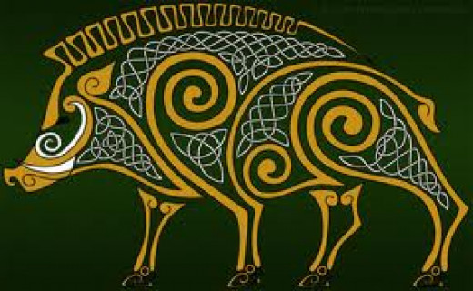 The boar was one of the Celts' foremost creatures. Gods and heroes who changed shape preferred the boar for its ferocity