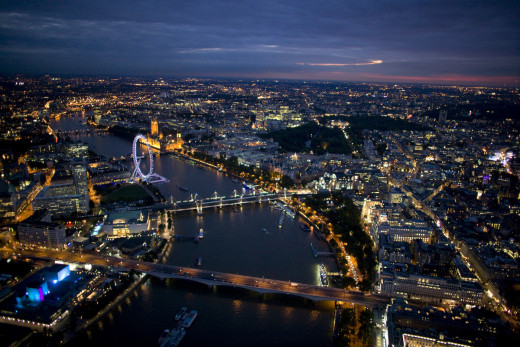Grand old London at night. How will you get around?