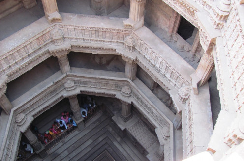 A view in to the Well from Above