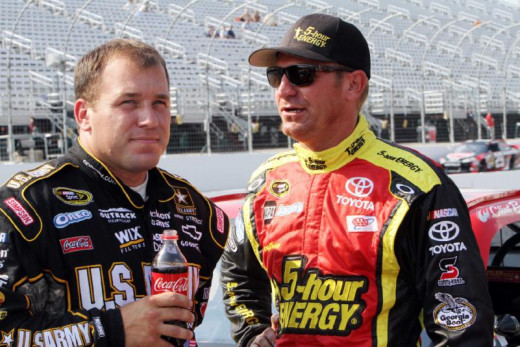 Friends off the track, there's no way to know how the race would have turned out had Bowyer not spun