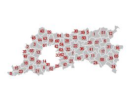Map of Flemish Brabant municipalities