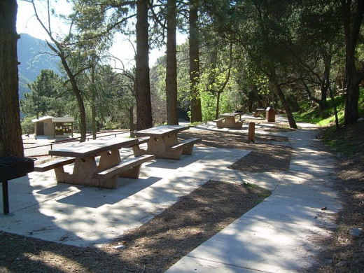 As you can see the picnic area is clean, well maintained and most importantly located and protected by trees which provide a lot of shade from the hot Californian sun