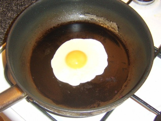 Egg is fried