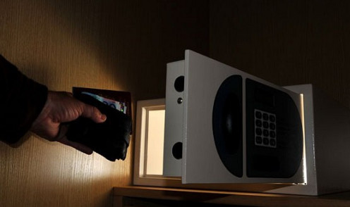 Store valuables in your hotel room safe -- document what you put in and take out.  Change the combination daily on digital safes.  Hotels safes DO get broken into  -- be cautious when choosing expensive items to bring on vacation.