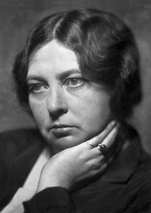 Photograph of Sigrid Undset from 1928