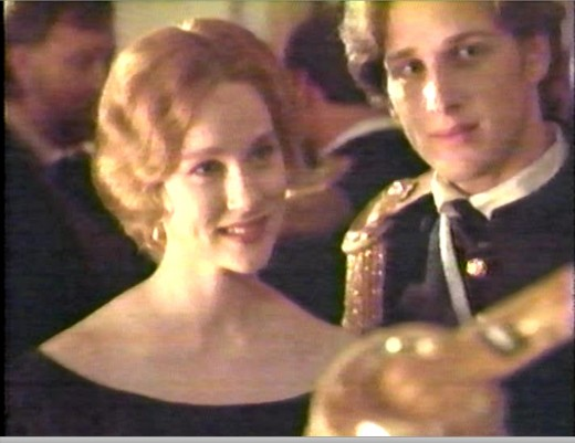 Laura Linney as Lily Magraw, left, and Josh Lucas as George Armstrong Custer.