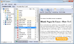 Merge PDF Files using PDF Combine