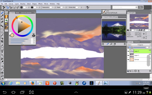 Adding Mountain Highlights