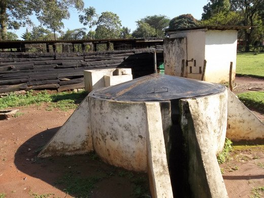 A floating Dome Design, no longer in use at the Kitale Museeum