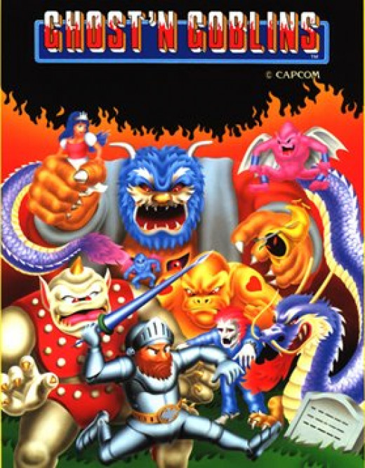 The excellent arcade flyer for Ghosts n Goblins