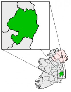 Map of County Wicklow, Republic of Ireland