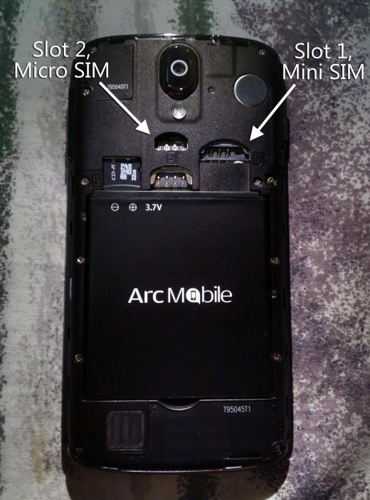 SIM Slots 1 and 2