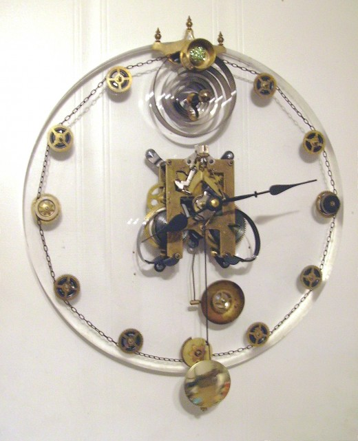 Steam Punk clock I made.