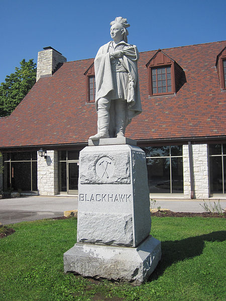 Black Hawk statue Black Hawk State Historic Site, in Rock Island, Illinois