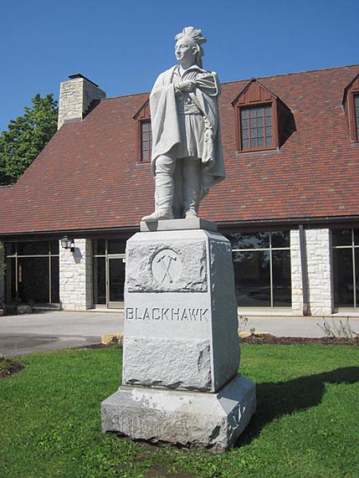 Black Hawk statue Black Hawk State Historic Site, in Rock Island, Illinois