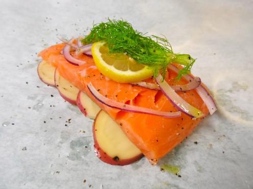 A simple salmon dish.