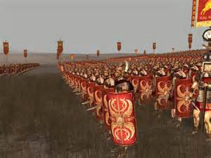 Roman armies attacking the enemy