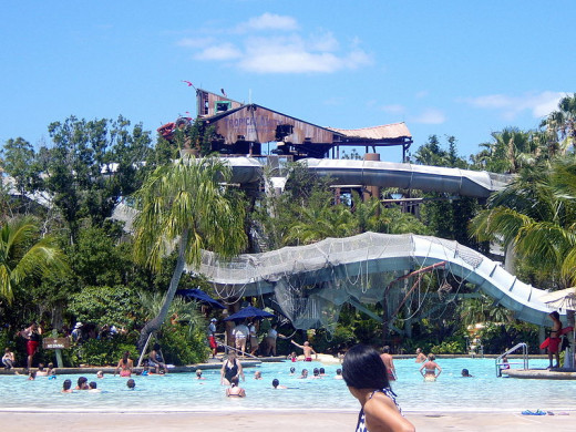 To avoid crowds, go to the Walt Disney World water parks in the afternoon.