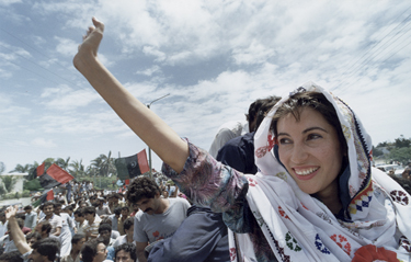 Bhutto spent a lot of time speaking and rallying members of her party to oppose Zia-al-Haq