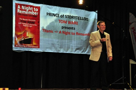 A great deal of preparation went into this.  Several good friends made it possible for me to present my 'Titanic Story' to an audience of 157 people.  It was a terrific evening.